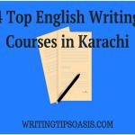 4 Top English Writing Courses in Karachi