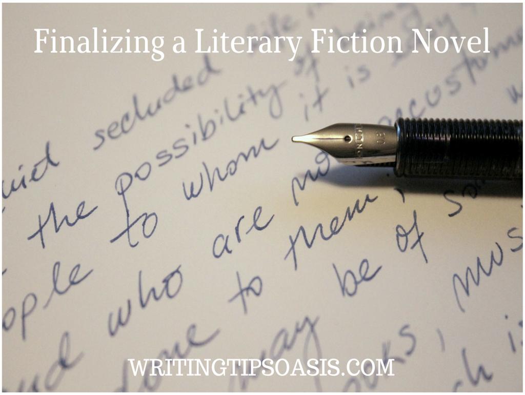 finalizing a literary fiction novel