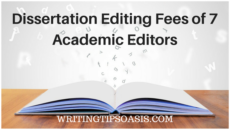 Dissertation editing fees