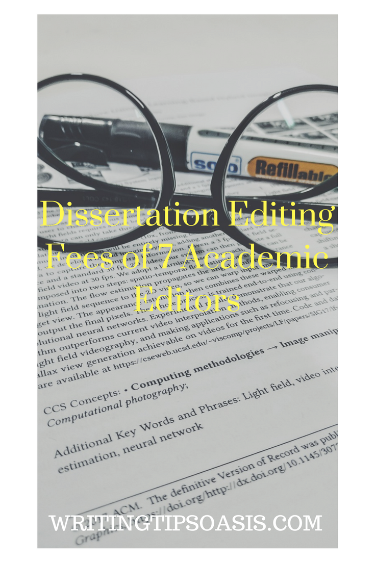 Dissertation proofreading service and editing