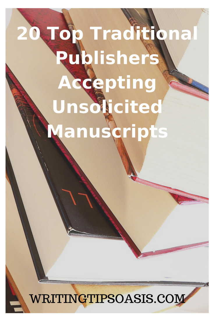 traditional book publishers accepting manuscripts