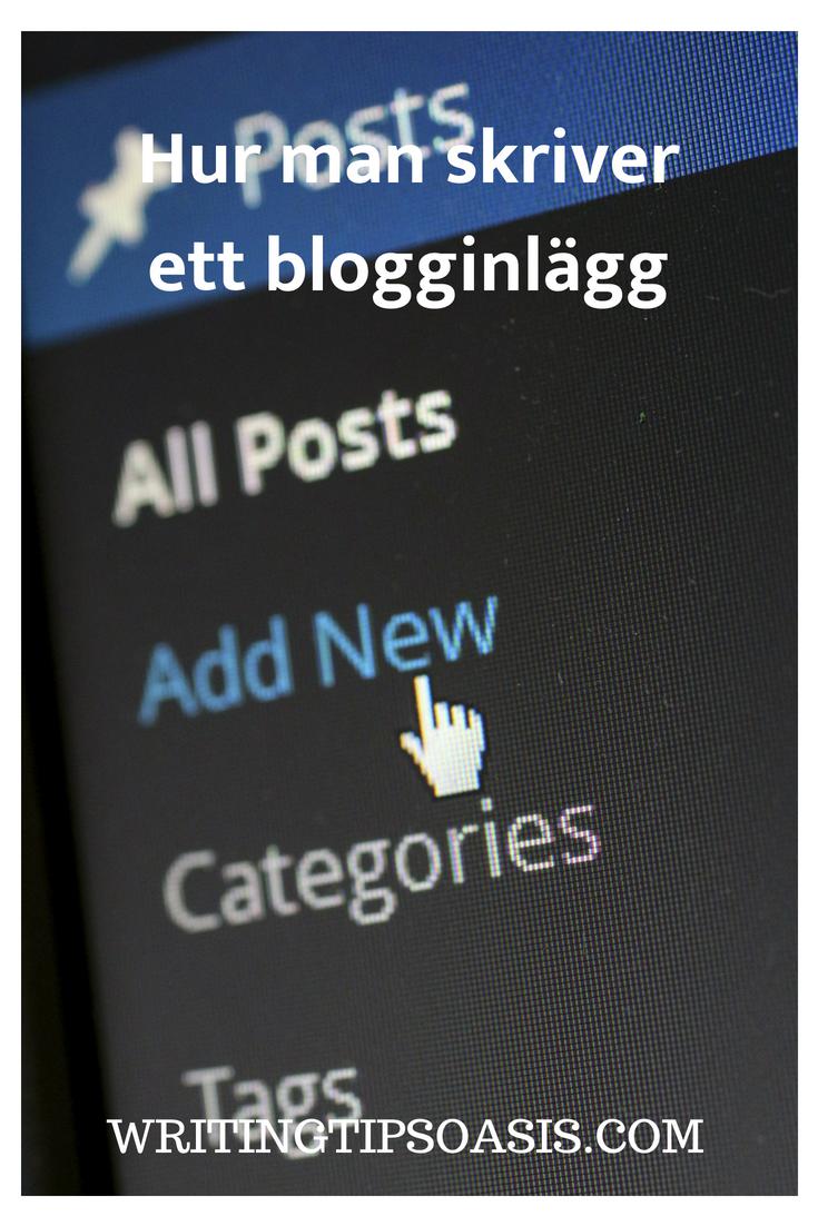 hur man skriver ett blogg