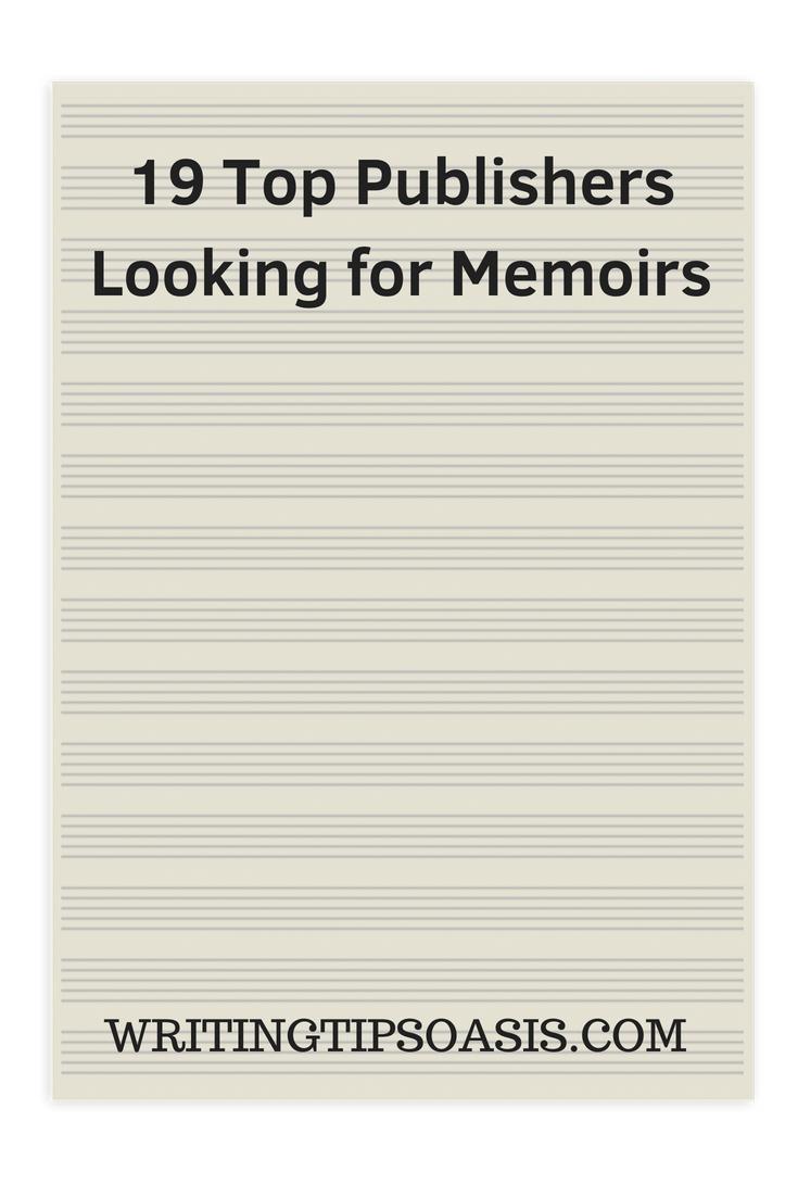 publishers seeking memoirs