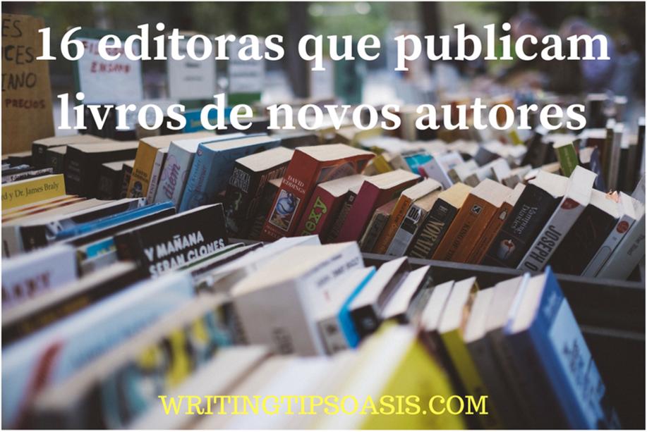 editoras que publicam livros de novos autores
