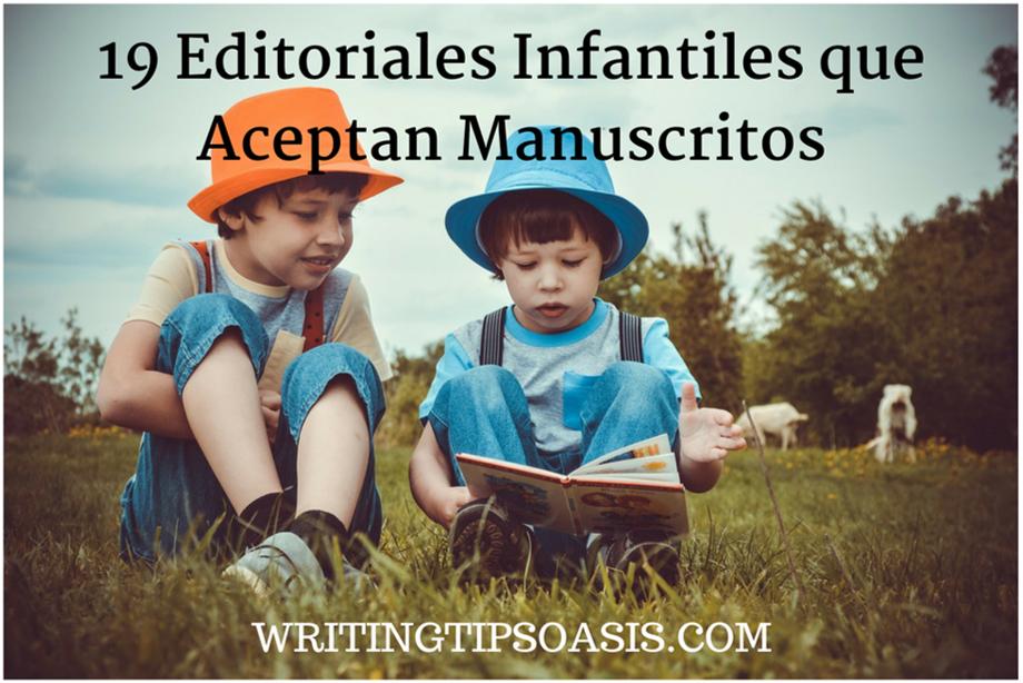 editoriales infantiles que aceptan manuscritos