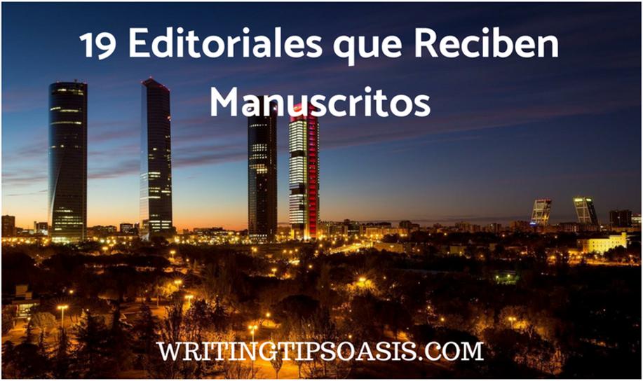 editoriales que reciben manuscritos