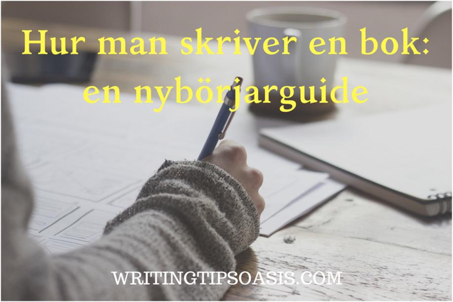 hur man skriver en bok