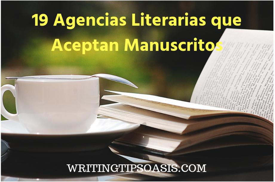 agencias literarias que aceptan manuscritos