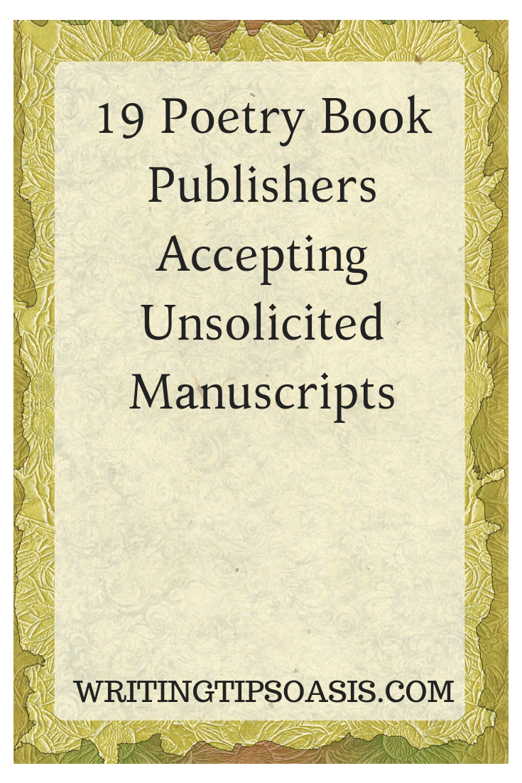 poetry book publishers that accept unsolicited manuscripts