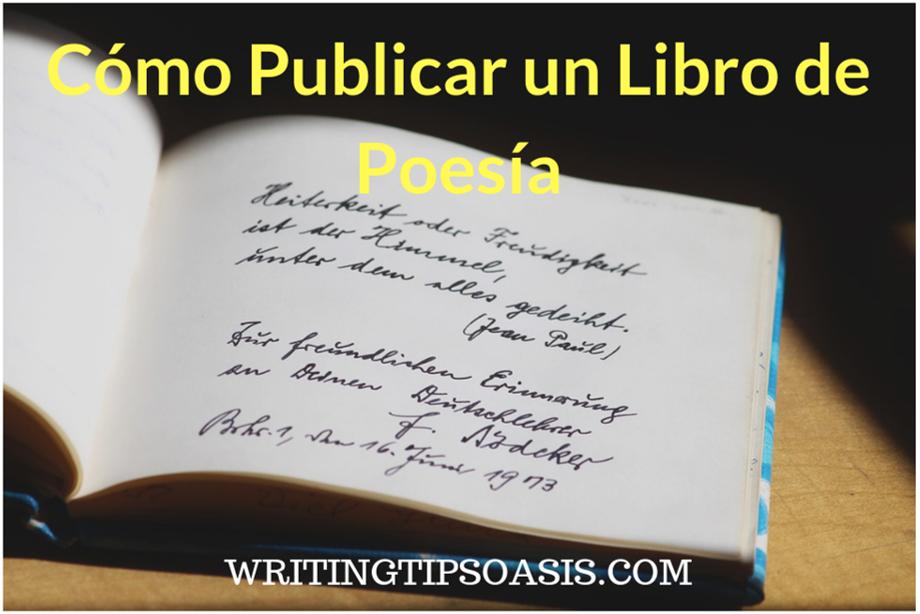 cómo publicar un libro de poesía