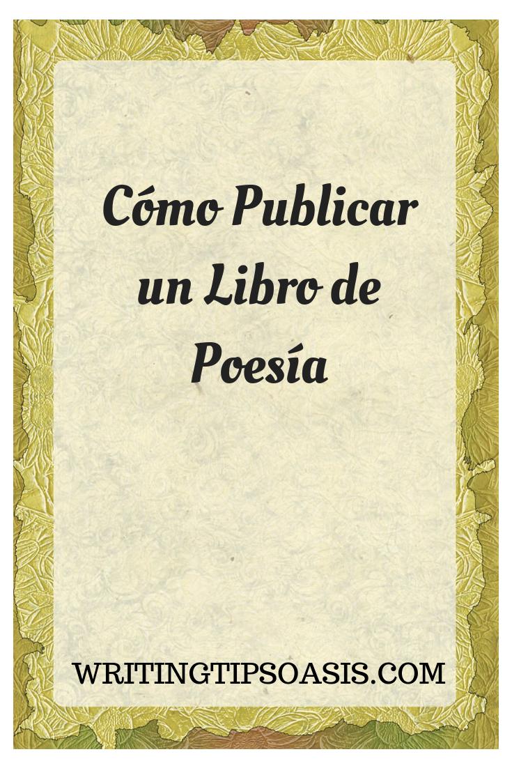 como publicar un libro de poesía