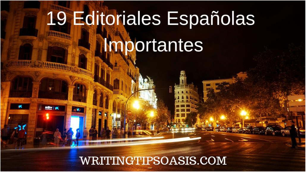 editoriales españolas importantes