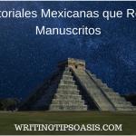 editoriales mexicanas que aceptan manuscritos