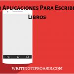 aplicaciones para escribir libros