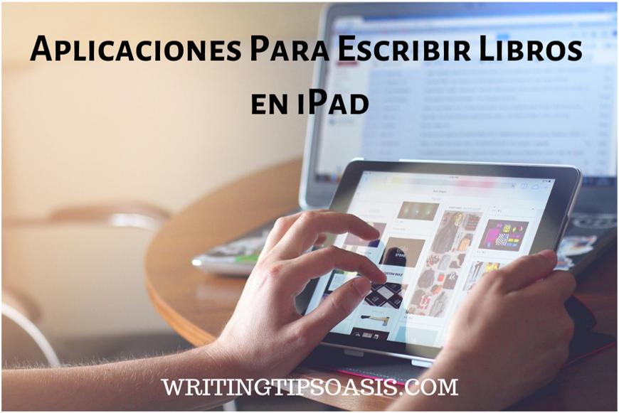 aplicaciones para escribir libros en ipad