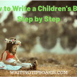 how to write a children's book step by step