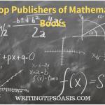 publishers of mathematics books