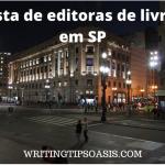 Lista de editoras de livros em SP